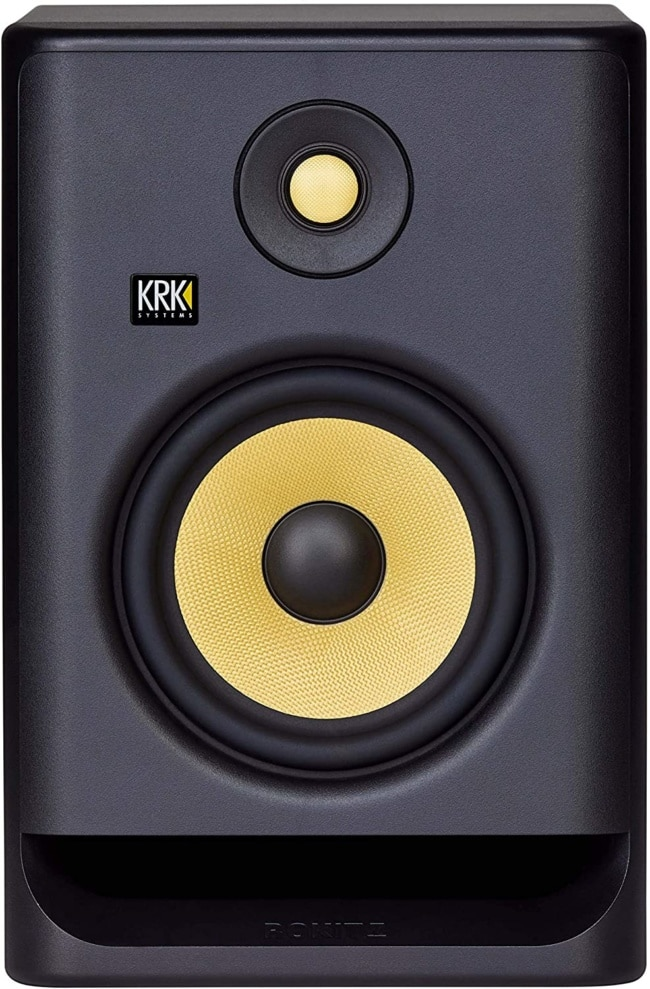 KRK RP7 Rokit G4 Professional Bi-Amp 7 Powered Studio Monitor, Black (RP7G4)