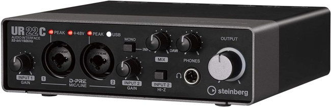 Steinberg UR22C 2x2 USB 3.0 Audio Interface with Cubase AI and Cubasis LE
