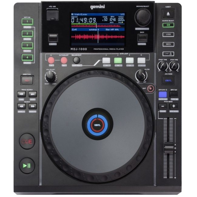 best dj cd player GEMINI MDJ-1000