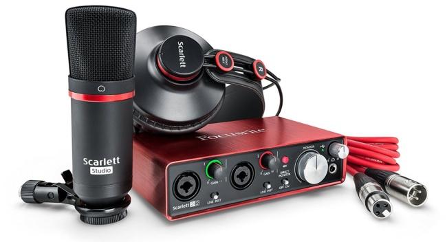 Fосuѕritе Sсаrlеtt Studiо USB Audiо Interface Recording Pасkаgе