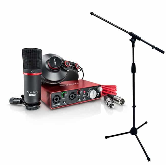 Focusrite Scarlett 2i2 MKII Studio Recording Bundle (2nd Gen)