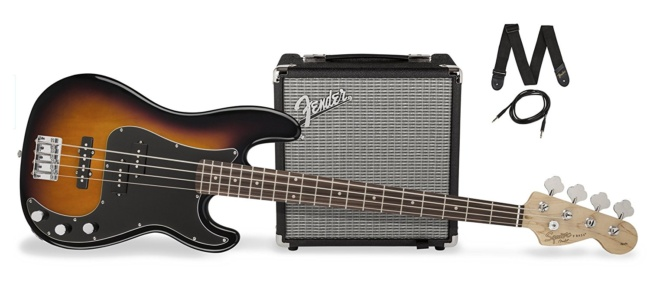Squier Affinity PJ Bass Package
