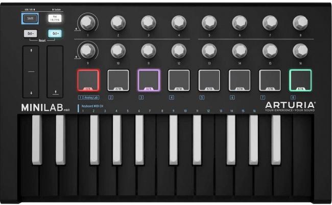 Arturia midi keyboard inverted black