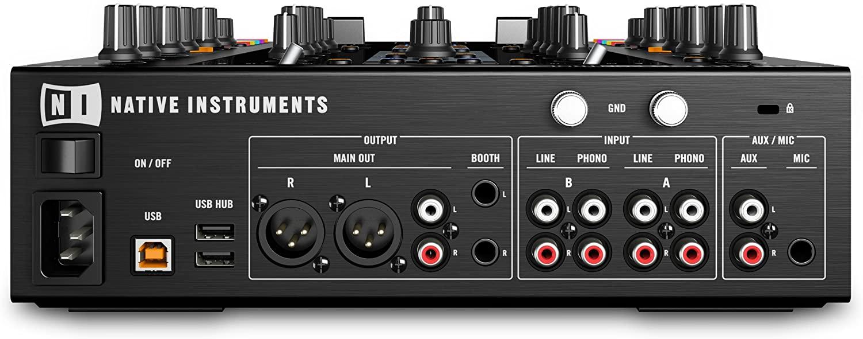 Native Instruments Traktor Kontrol Z2 DJ Mixer backside