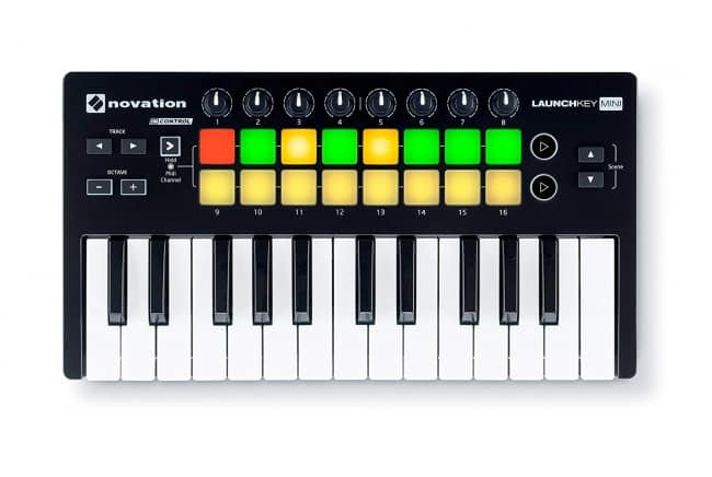 Novation Launchkey Mini 25-Note USB Keyboard Controller, MK2 Version
