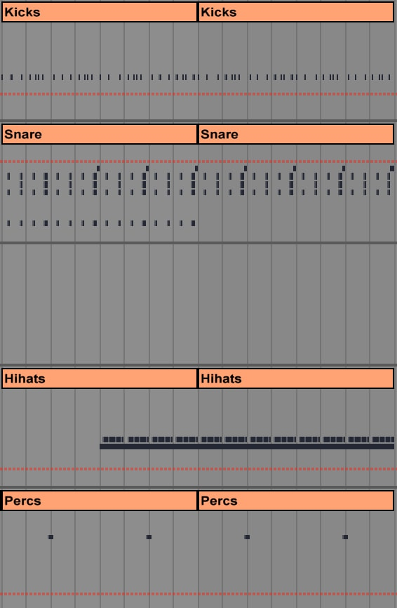 techno drum production on ableton