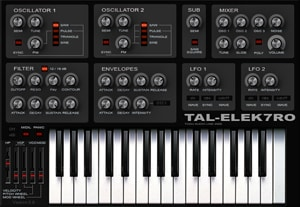 TAL-Elek7ro vst plug-in instrument
