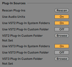 ableton plugin settings