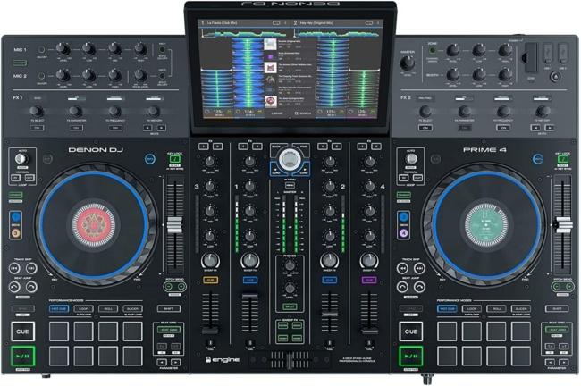 Denon DJ PRIME 4 | 4 Deck Standalone Smart DJ Console / Serato DJ Controller