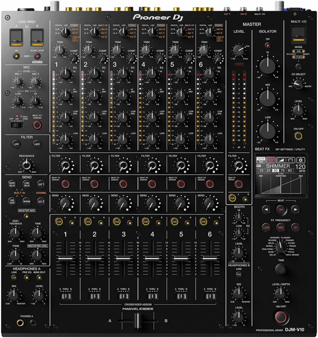 Pioneer DJ DJM-V10 6-channel DJ Mixer