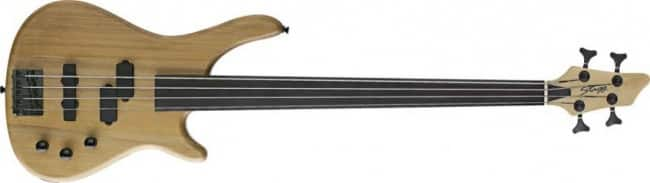 Stagg BC300FL Fretless 4-String Fusion Electric Bass Guitar - Natural