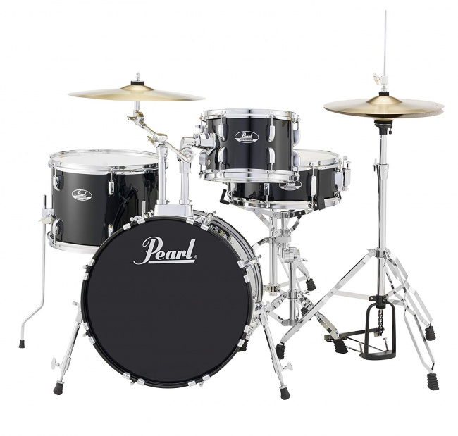Pearl RS584CC31 Roadshow 4-Piece Drum Set, Jet Black