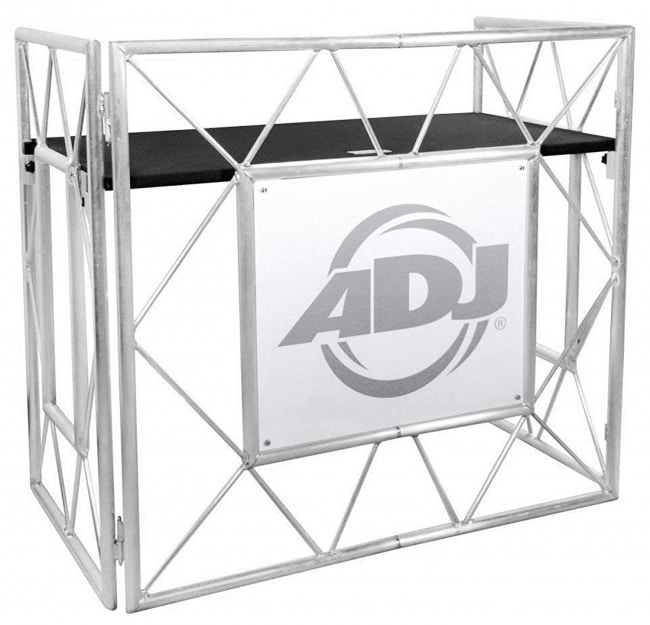 American DJ Pro Event Table II Foldable DJ Booth Truss Facade