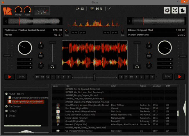 blaze free dj - best free dj software