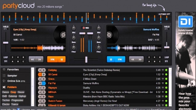 party cloud online - best free dj software