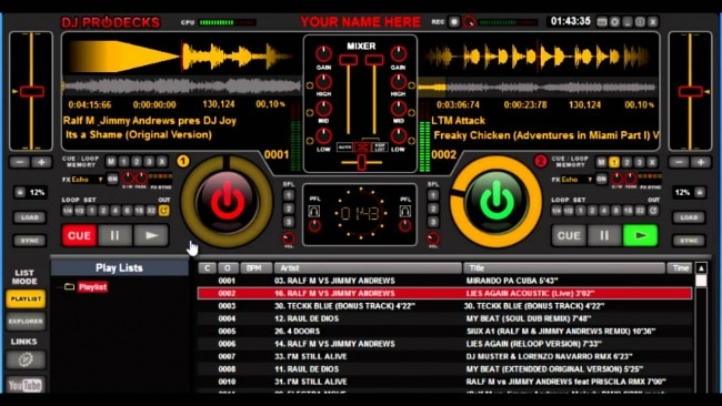 dj prodecks - best free dj software