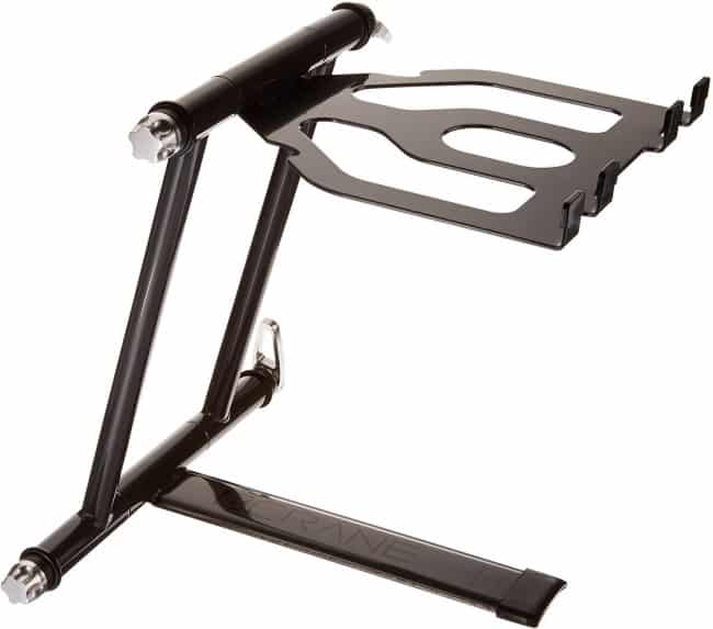 CRANE Stand Plus Universal DJ Stand for Laptops, Tablets and Controllers with Nylon Carry Bag, Graphite Grey