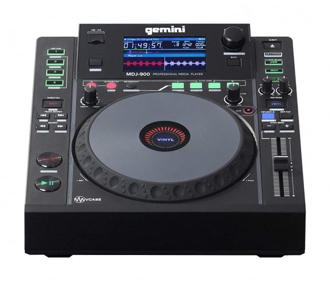 Gemini MDJ Series MDJ-900 Professional Audio DJ Media Player with 4.3-Inch Full Color Display Screen