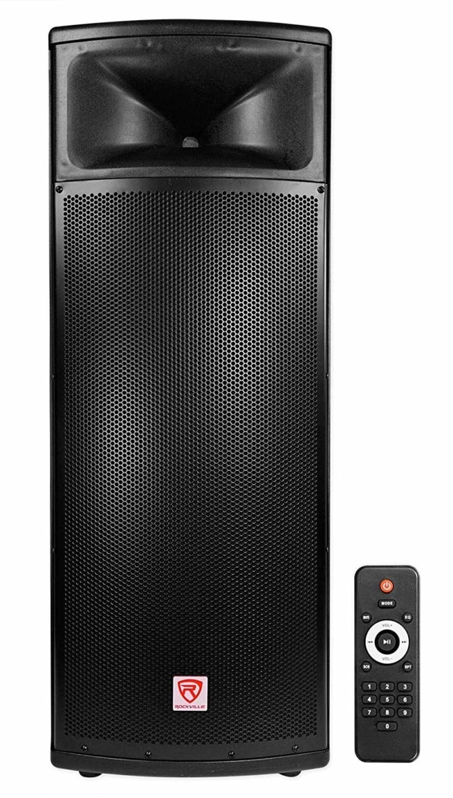 Rockville BPA225 Dual 15 Powered Active 1500w Pro DJ PA Speaker w Bluetooth+TWS