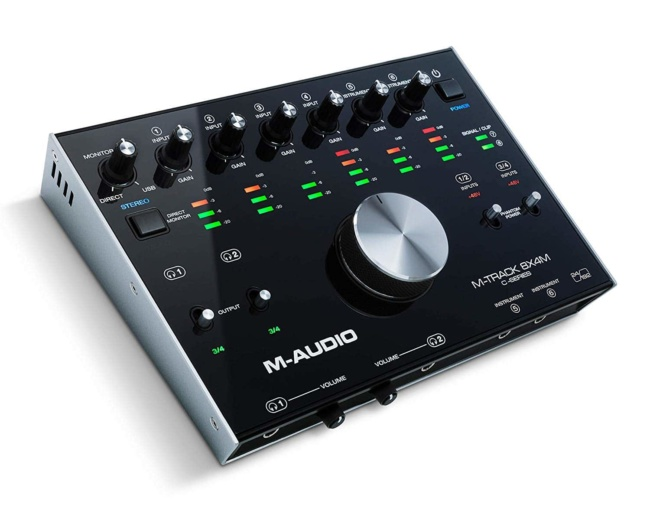 M-Audio M-Track 8X4M | Compact USB : USB-C 8-In:4-Out 24:192 USB Audio:MIDI Interface With Zero Latency Monitoring