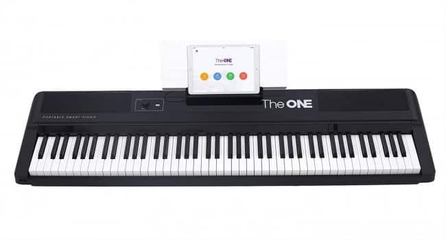 The ONE Smart Keyboard Pro, 88-Key Digital Piano Keyboard, Portable Digital Piano, Weighted Action Keys