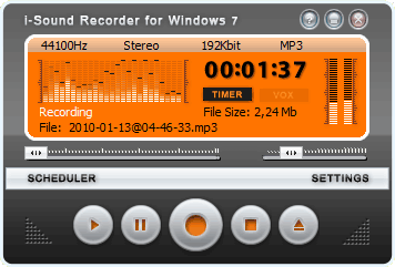 isound recorder free audio recording software