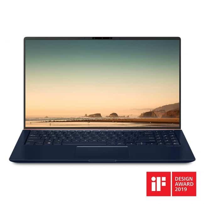 "Asus ZenBook 15 Ultra Slim Compact Laptop 15.6"" FHD 4-Way NanoEdge, Intel Core i7-8565U Processor, 16GB DDR4, 512GB PCIe SSD, GeForce GTX 1050, Ir Camera, Windows 10, UX533FD-DH74"