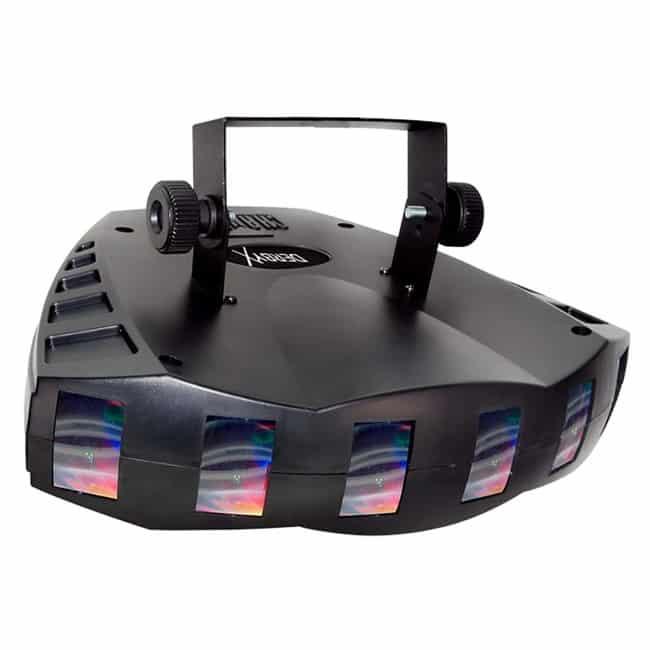 CHAUVET DJ Derby X RGB LED Derby w:Static, Blackout, Strobe Effect Light & Automated:Sound Active Programs