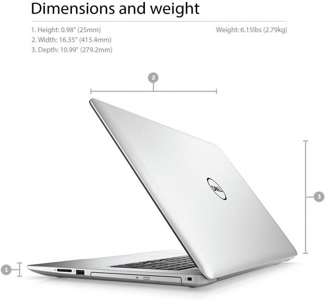 Dell Inspiron 17 5000 Series 5770 dimensions