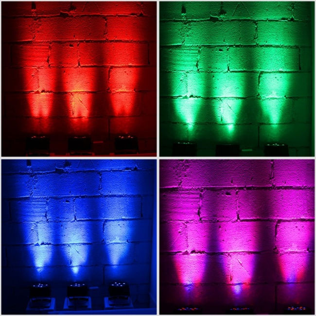 LED Par Lights, YeeSite 36LEDs RGB Stage Wash Lights Sound Activated with Remote and DMX Control Up Lights for Church Wedding Stage Lighting DJ Party 2