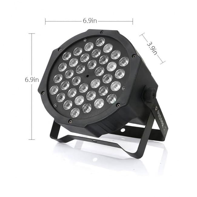 LED Par Lights, YeeSite 36LEDs RGB Stage Wash Lights Sound Activated with Remote and DMX Control Up Lights for Church Wedding Stage Lighting DJ Party