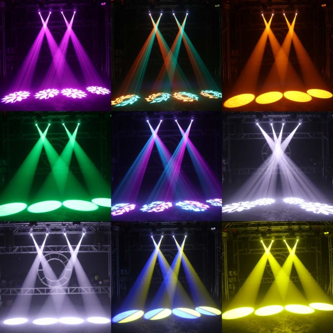 U`King Stage Lighting 50W LED Moving Head Light with Remote 8 Gobo 8 Pattern Spotlight by DMX 512 Controlled 9:11 Channel for DJ Disco Party Strobe Lights Shows 2