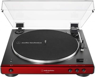 Audio-Technica AT-LP60XBT-RD Fully Automatic Belt-Drive Stereo Turntable