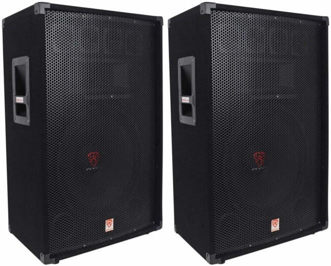 Rockville RSG15 15 3-Way 1500 Watt 8-Ohm Passive DJ:Pro Audio PA Speaker