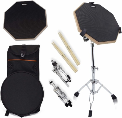 Silent Practice Drum Kit, 12 Inch Double Side Drum Pad