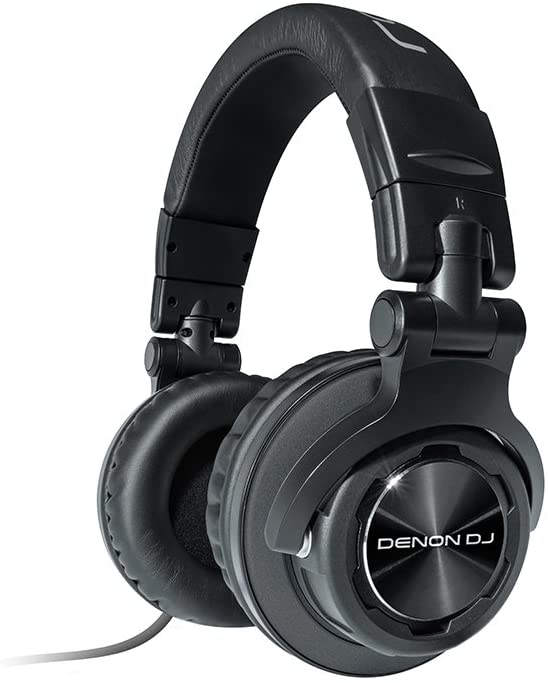 Denon DJ HP1100 | Professional Over-Ear DJ Headphones with 180-degree Cup Swivel & Leather Carry Bag