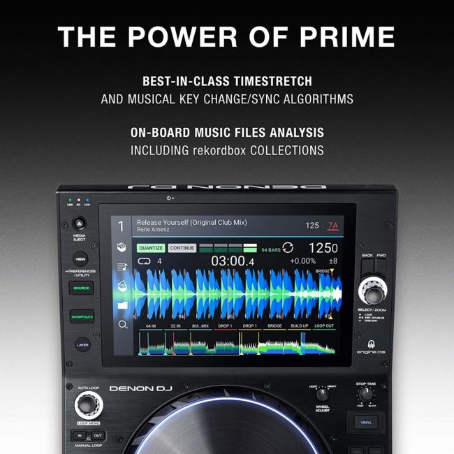 Denon DJ SC6000 PRIME – Professional Standalone DJ Media Player with 10.1-Inch Touchscreen