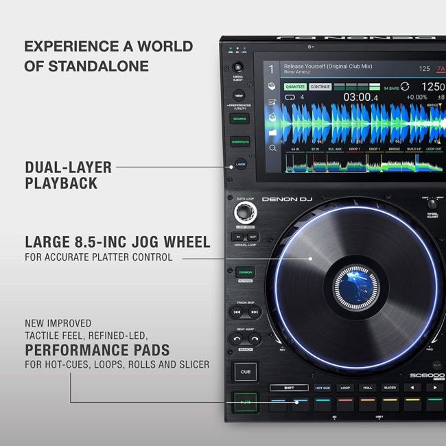 Denon DJ SC6000 PRIME – Professional Standalone DJ Media Player with WiFi Music Streaming