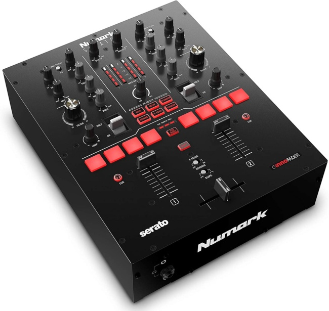 Numark Scratch | Two-Channel DJ Scratch Mixer for Serato DJ Pro side view