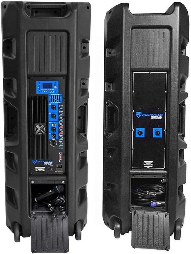 Rockville Pair Dual 15 2000w Powered DJ Speaker System w:Bluetooth+Mic, (RPG225K) backside