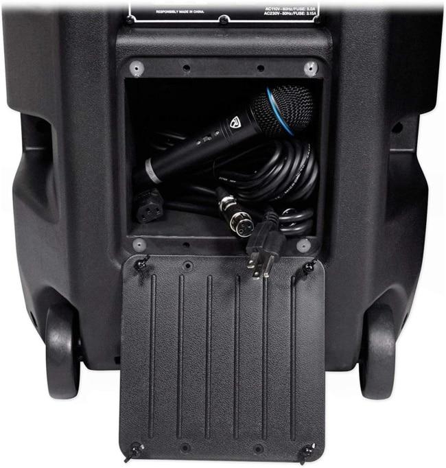 Rockville Pair Dual 15 2000w Powered DJ Speaker System w:Bluetooth+Mic, (RPG225K) storage