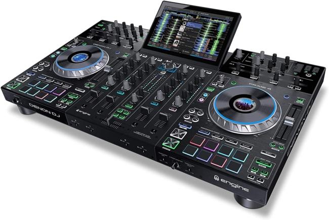 Denon DJ PRIME 4 | 4 Deck Standalone Smart DJ Console : Serato DJ Controller