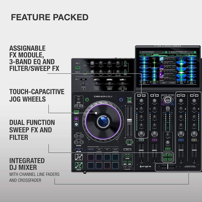 Denon DJ PRIME 4 | 4 Deck Standalone Smart DJ Console : Serato DJ Controller features