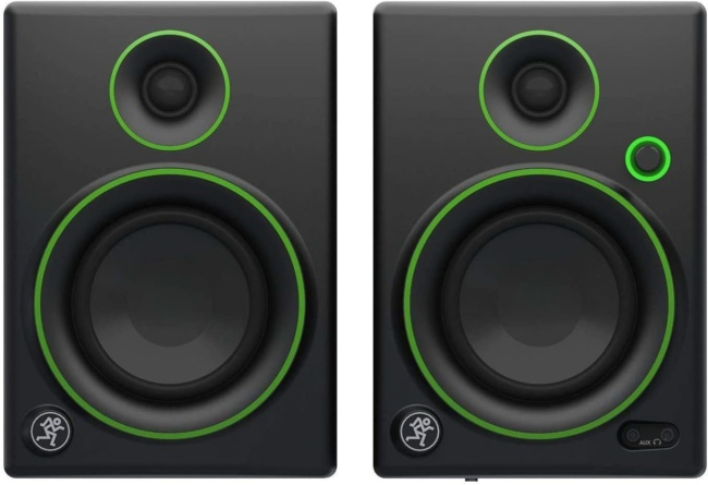 Mackie Creative Reference Multimedia Monitor (Set of 2), Black w:green trim, 4-inch (CR4 (Pair))