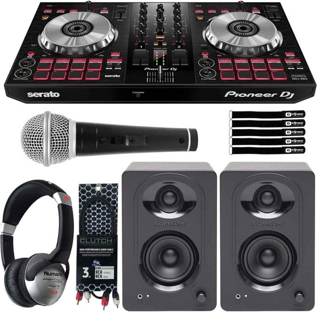 Pioneer DDJ-SB3 Serato DJ Controller Starter Package w:Speakers + Headphones
