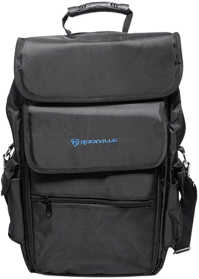Rockville 25-Key Case Soft Carry Bag Backpack For Impulse+Launchkey 25 Keyboards