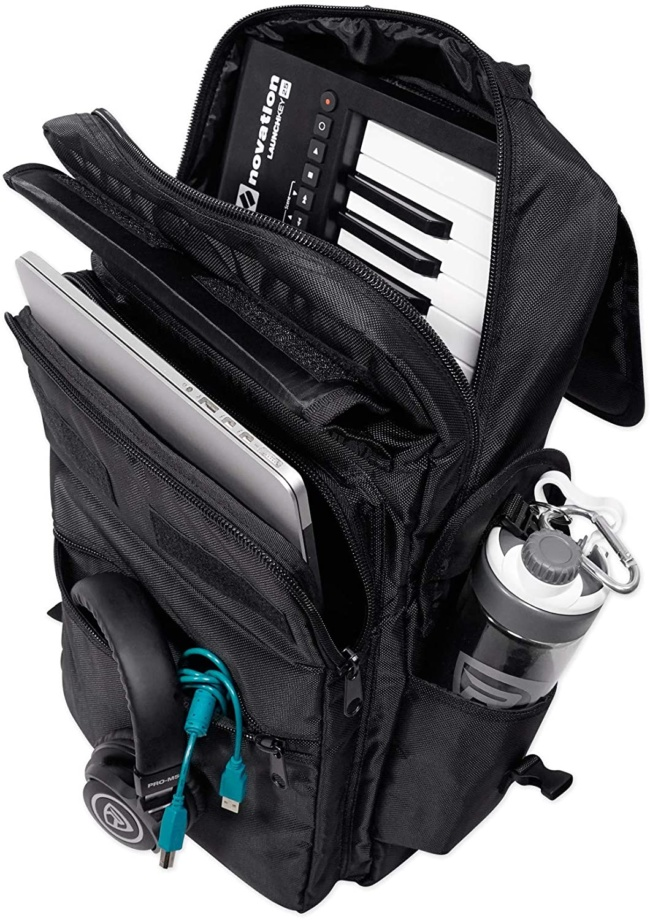Rockville 25-Key Case Soft Carry Bag Backpack For Impulse+Launchkey 25 Keyboards INSIDE