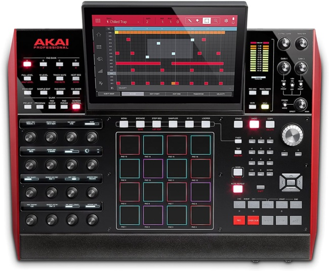 Akai Professional MPC X | Fully Standalone MPC With 10.1-Inch Multi-Touch Display, 16GB On-Board Storage, 8 Configurable CV:Gate Outputs, Full Control Arsenal and 10GB Sound Library Included front panel