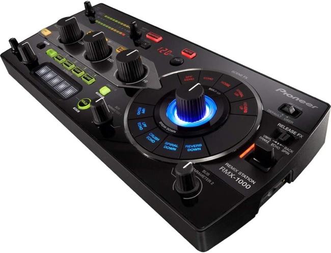 Pioneer DJ DJ Mixer, Black (RMX-1000) side view
