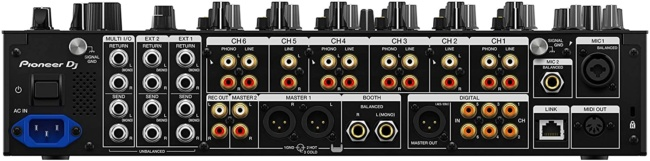 Pioneer DJ DJM-V10 6-channel DJ Mixer backside